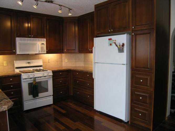 restaining kitchen cabinets gel stain photo - 6