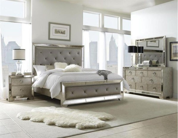 silver bedroom furniture sets photo - 2