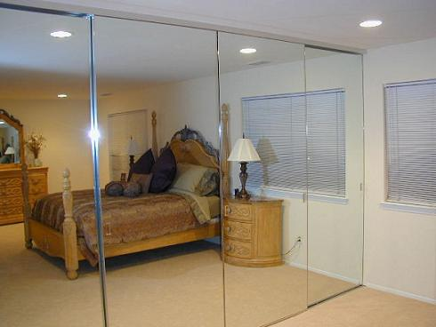 Sliding Glass Mirrored Closet Doors Are Sweet For The Suite