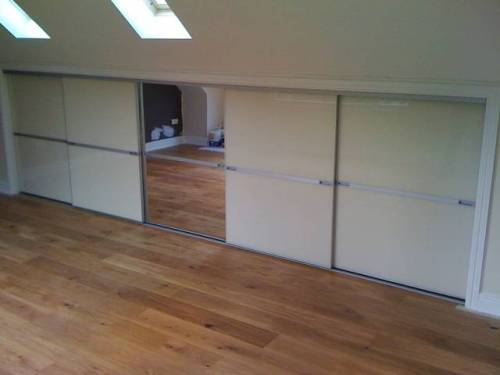 sliding loft doors interior photo - 3