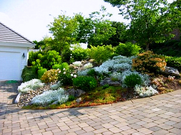 sloped rock garden ideas photo - 2