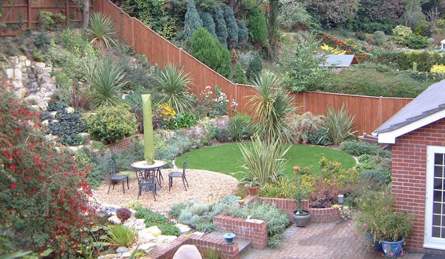 sloped rock garden ideas photo - 3