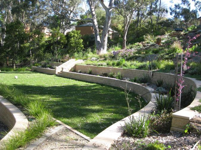 sloping garden design plans photo - 1