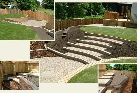 sloping garden design plans photo - 5