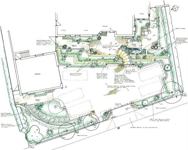 sloping garden design plans photo - 6