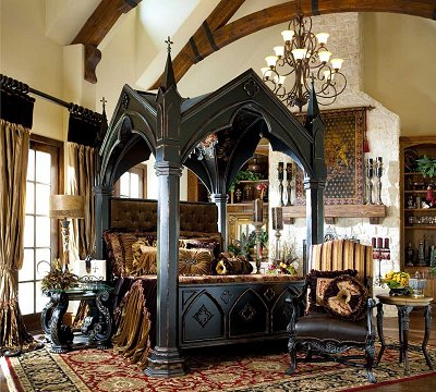 victorian gothic bedroom furniture photo - 1