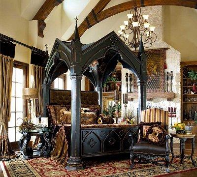 victorian gothic bedroom furniture photo - 1