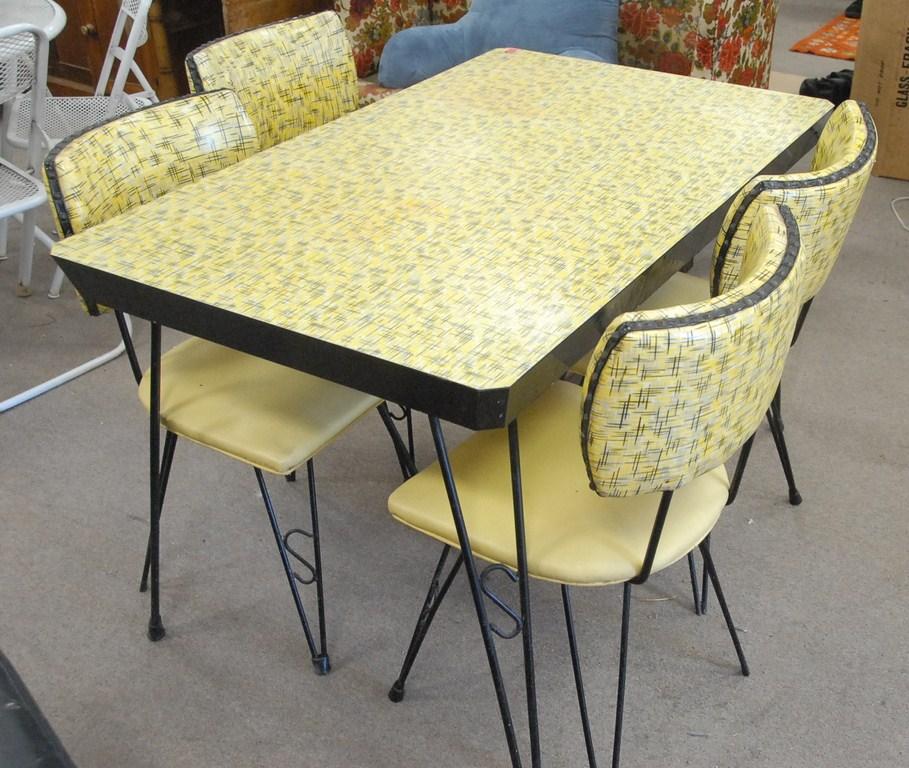 vintage kitchen table photo - 1