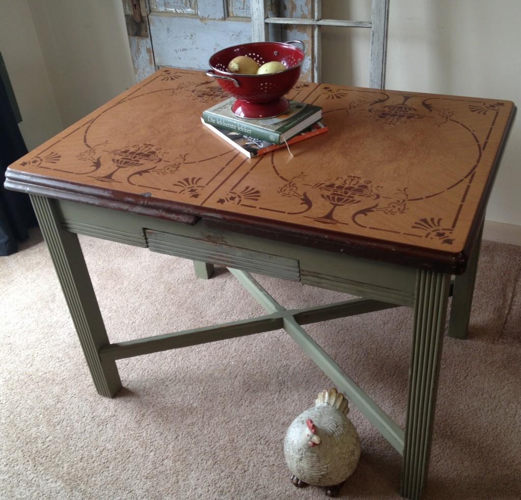 vintage kitchen table with enamel top photo - 3