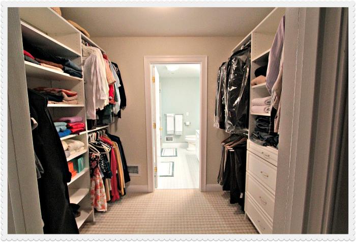 walk in closet and bathroom ideas photo - 3