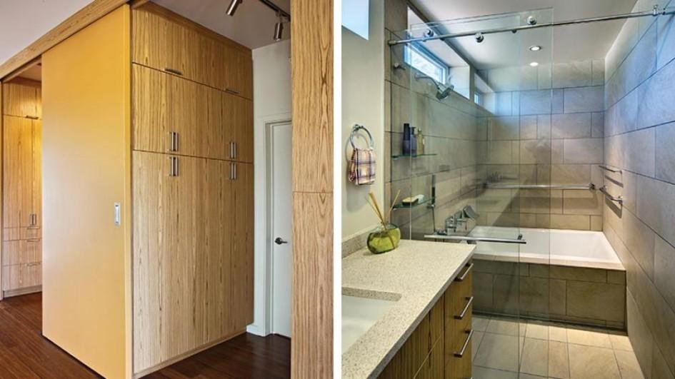 walk in closet and bathroom ideas photo - 5