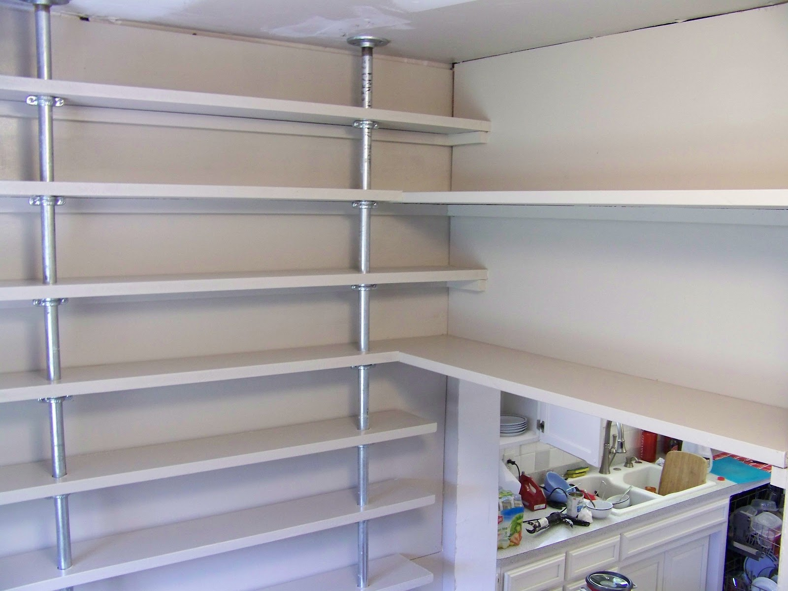 wall mounted pantry shelves photo - 2