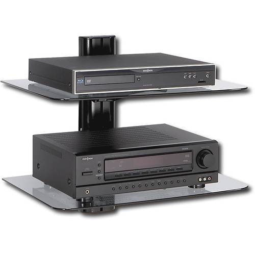 wall mounted shelves for dvd player photo - 1