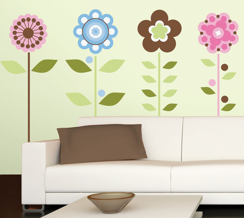 wall stickers flowers kids photo - 1