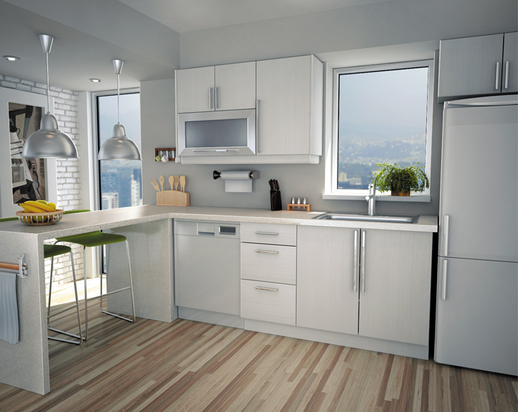 white kitchen cabinets from lowes photo - 2