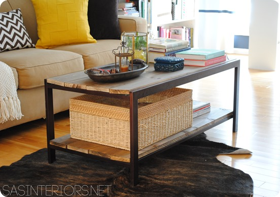 wood coffee table makeover photo - 3