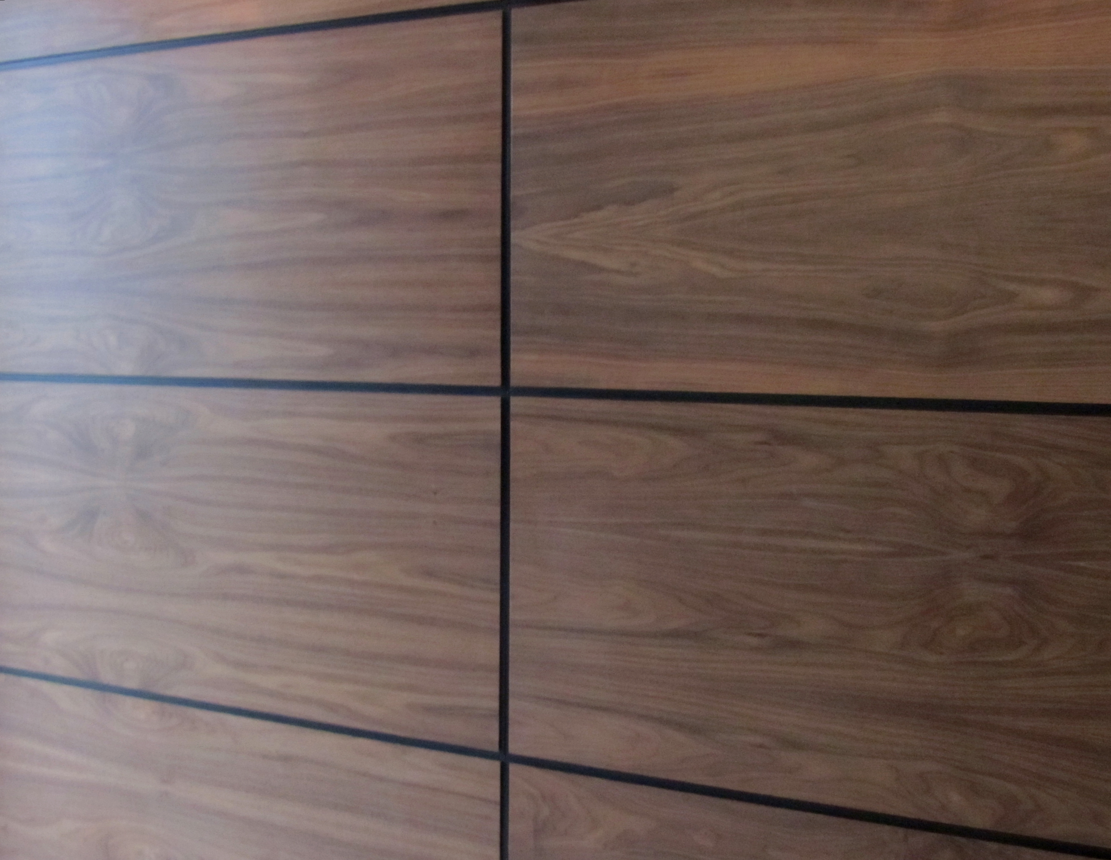 wood wall panel design photo - 2